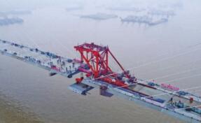 岳阳洞庭湖特大桥主桥合龙成功 打破多个世界纪录