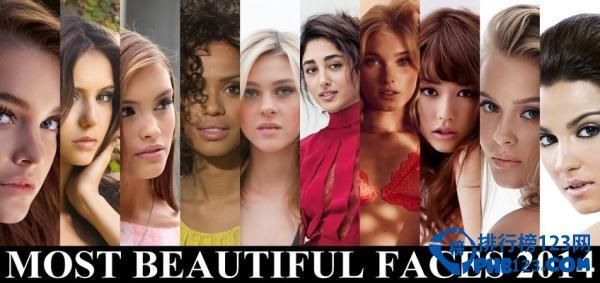 2014年度全球百大最美脸蛋排行榜完整名单top100