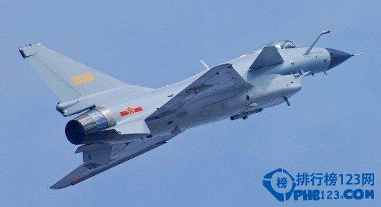 中国第三代以上战机数量排名