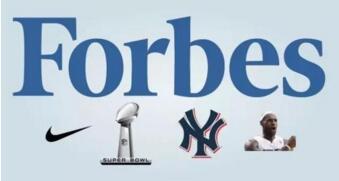 2016福布斯体育品牌排行榜 最具价值球员球队体育公司