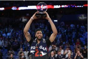 安东尼-戴维斯获得2017nba全明赛MVP,全场怒砍52分10篮板