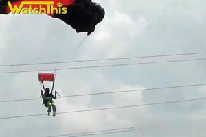 跳伞撞上高压线 全球最美跳伞胜地排行