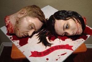 世界上最恐怖的蛋糕,人头内脏做蛋糕(重口无比)